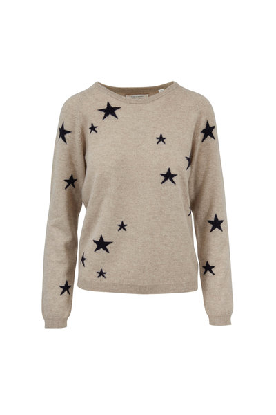 Chinti & Parker - Beige & Black Star Cashmere Sweater
