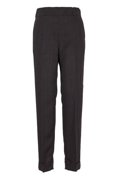 Akris - Chris Magnet Wool Elastic Back Pant