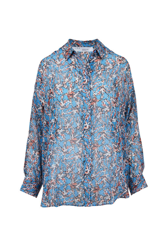 IRO Eager Blue Printed Blouse