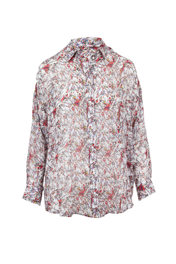 IRO Eager Ivory Printed Blouse