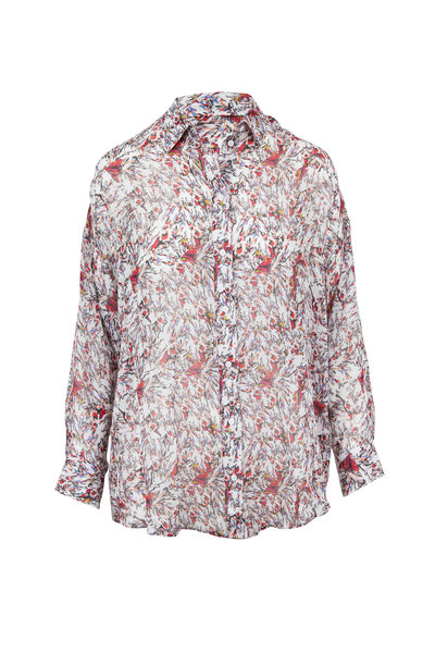 IRO - Eager Ivory Printed Blouse