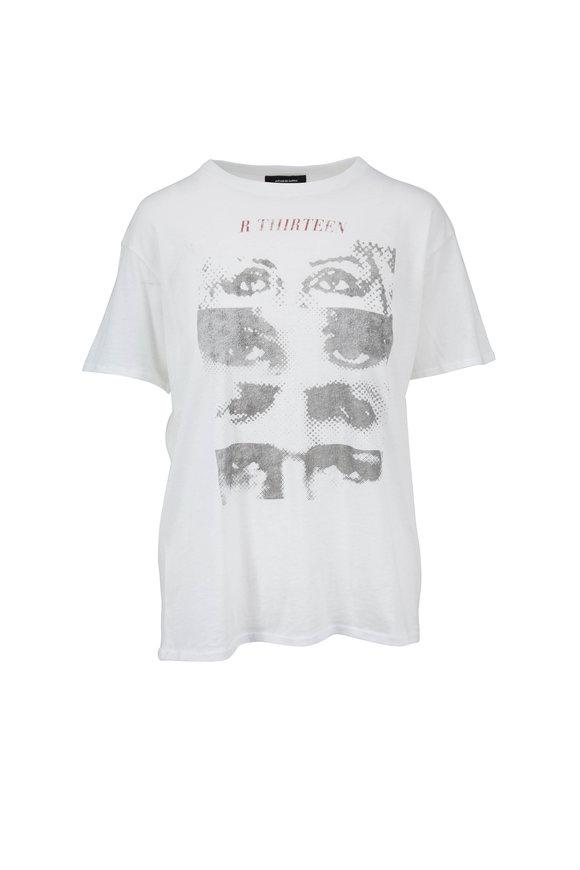 R13 White Logo Eyes Boy T-Shirt