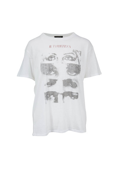 R13 - White Logo Eyes Boy T-Shirt