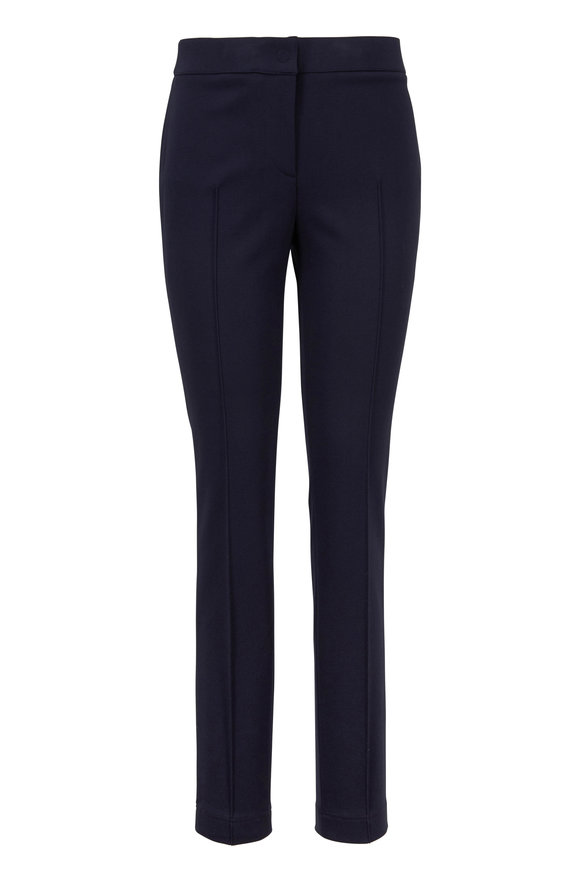 Akris Punto Mara Navy Jersey Pleat Pant