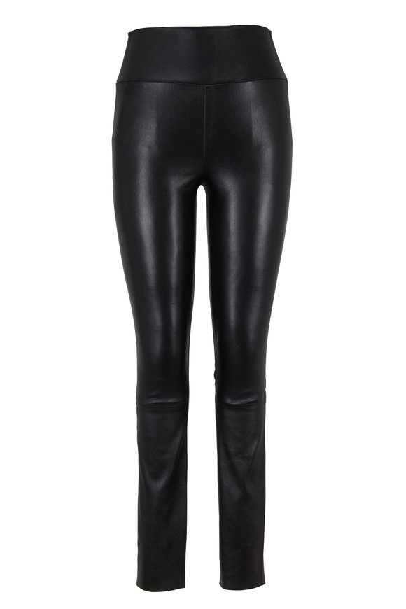 SPRWMN LLC Black High-Waist Leather Legging