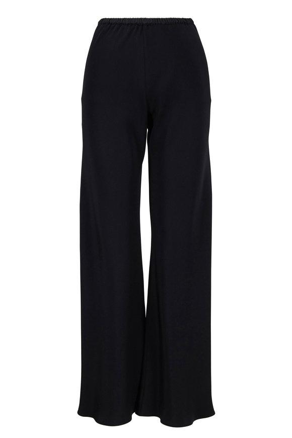 Peter Cohen Black Silk Crop Pull-On Pant