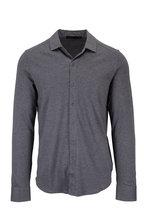 Raffi - Charcoal Gray Cotton Knit Sport Shirt
