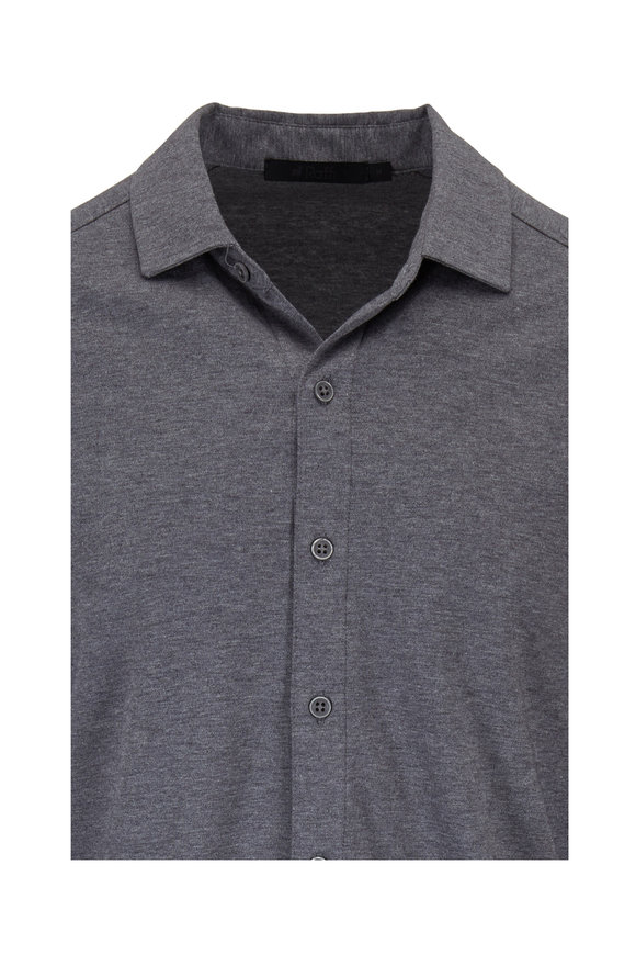 Raffi  Charcoal Gray Cotton Knit Shirt