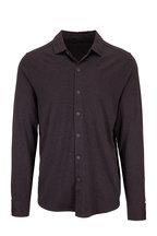 Raffi - Brown Cotton Knit Sport Shirt