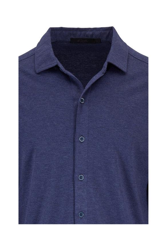 Raffi  Ocean Cotton Knit Sport Shirt
