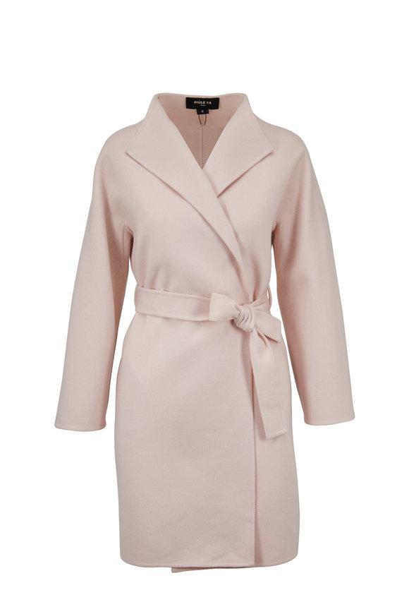 Paule Ka Power Pink Wool & Cashmere Tie Coat