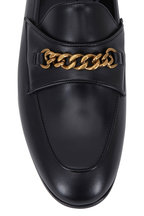 Tom Ford - Black Leather Chain Loafer