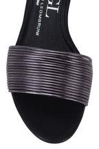 AGL - Black Leather Multi Band Sandal, 50mm