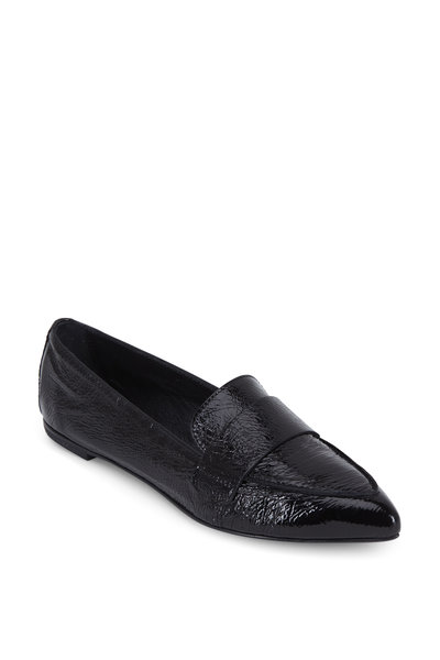 AGL - Black Patent Leather Pointed Toe Loafer