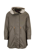 Woolrich - Olive Green Hooded Parka