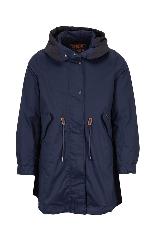 Woolrich Dark Navy Hooded Parka