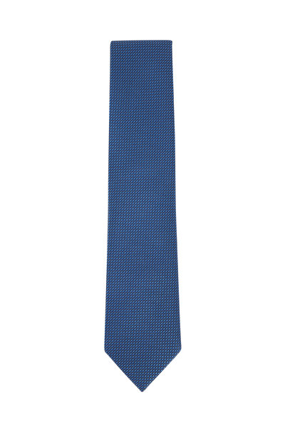 Brioni - Blue Textured Silk Necktie