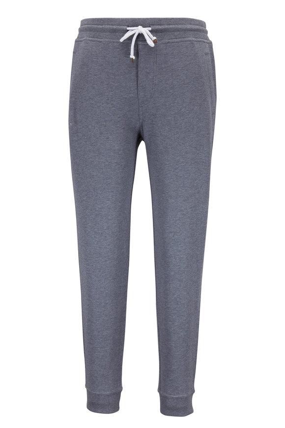 Brunello Cucinelli Charcoal Stretch Cotton Sweatpant