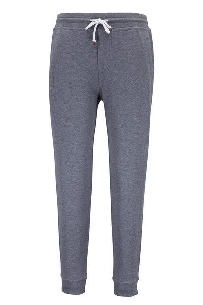 Brunello Cucinelli - Charcoal Stretch Cotton Sweatpant