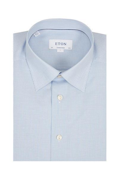 Eton - Solid Light Blue Contemporary Fit Dress Shirt
