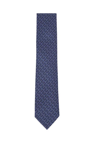 Ermenegildo Zegna - Black & Navy Paisley Silk Necktie