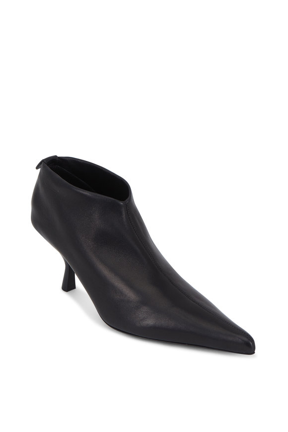 The Row Bourgeoise Black Stretch Leather Bootie, 65mm