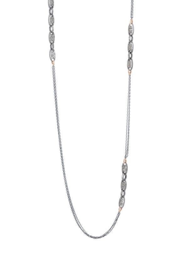 Dana Kellin 14K Gold Black Diamond Chain Necklace