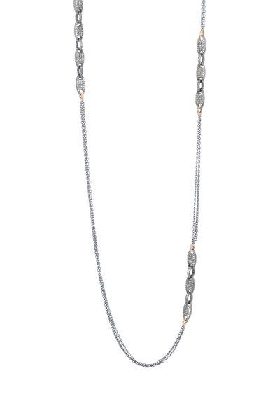 Dana Kellin - 14K Gold Black Diamond Chain Necklace