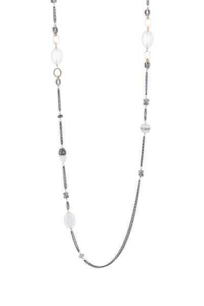 Dana Kellin - 14K Gold Black Quartz Necklace