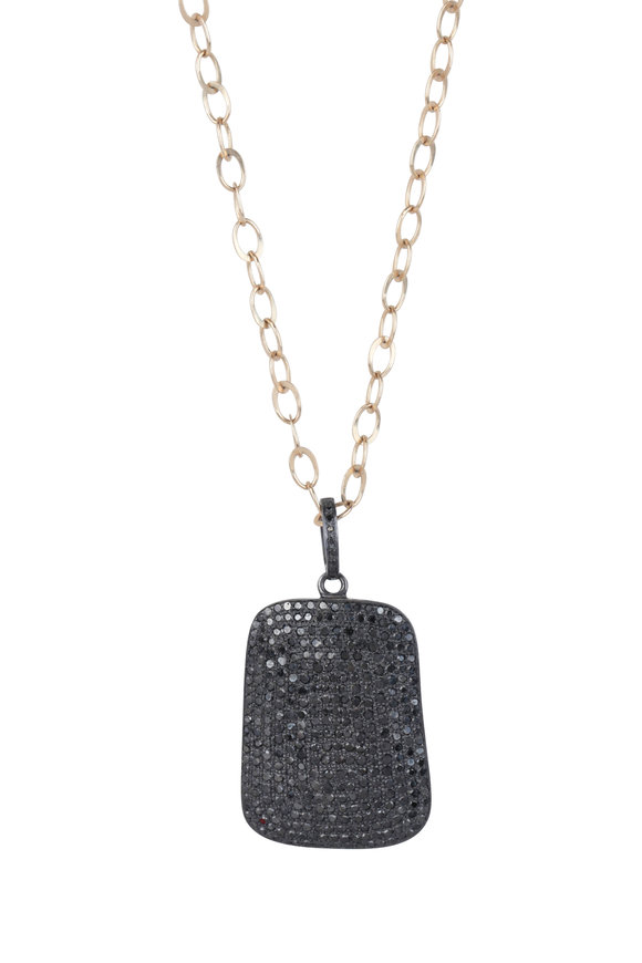 Dana Kellin 14K Gold Black Diamond Necklace