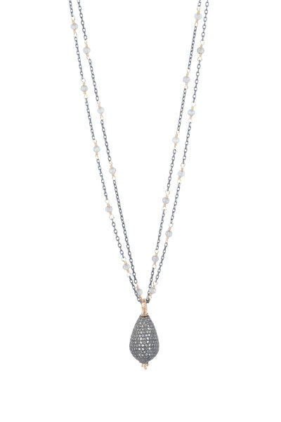 Dana Kellin - 14K Gold Diamond & Labradorite Necklace