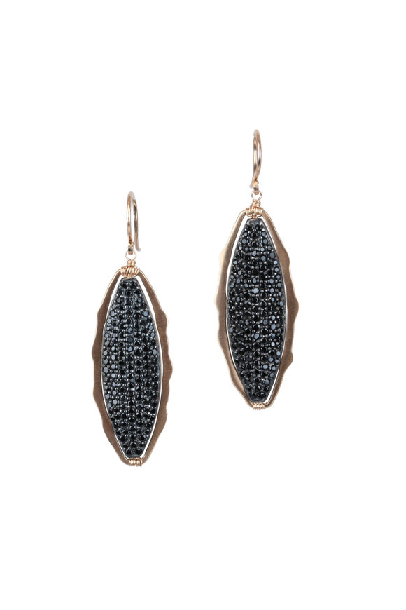 Dana Kellin 14K Gold Black Spinel Earrings