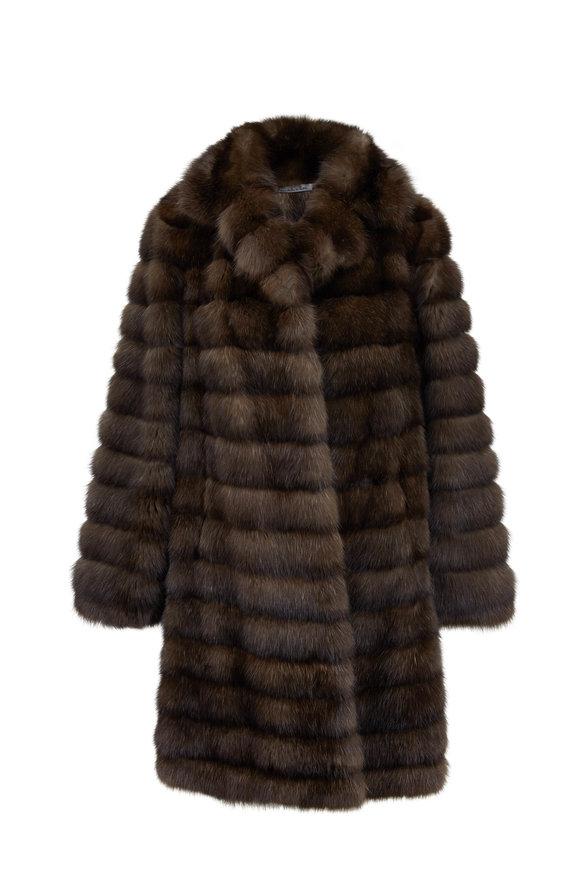 Oscar de la Renta Furs Stroller Natural Russian Sable Coat