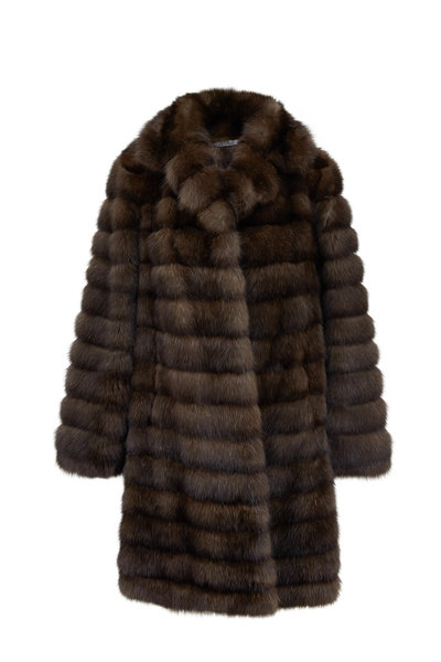 Oscar de la Renta Furs - Stroller Natural Russian Sable Coat
