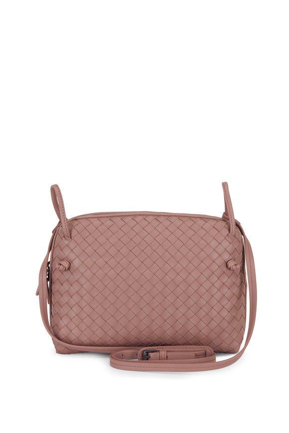 Bottega Veneta Pillow Dark Rose Intrecciato Small Crossbody