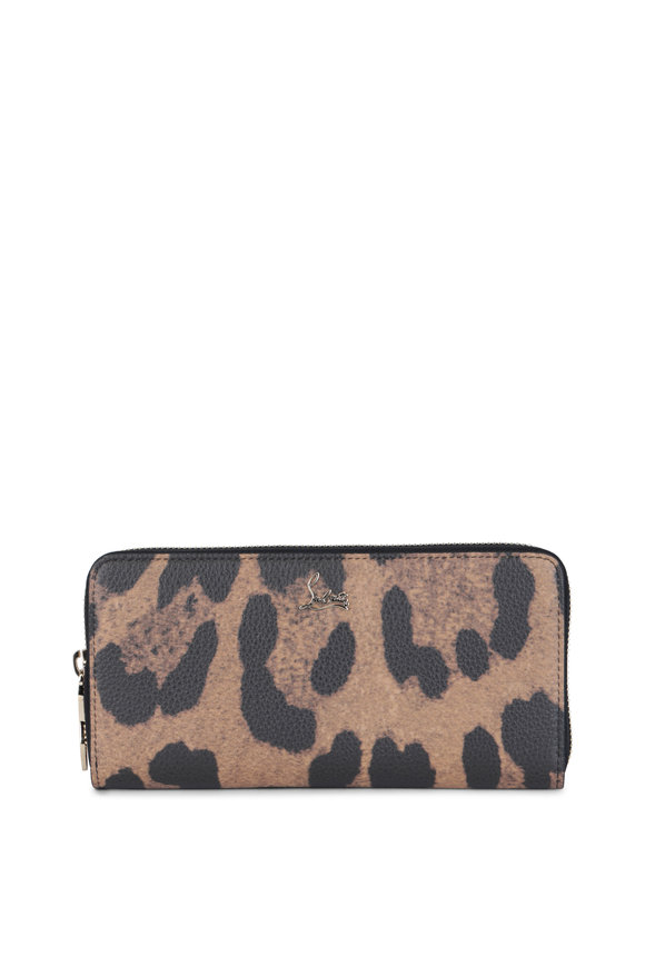 Christian Louboutin Panettone Leopard Print Leather Wallet