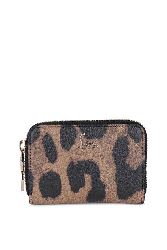 Christian Louboutin Panettone Leopard-Print Leather Coin Purse