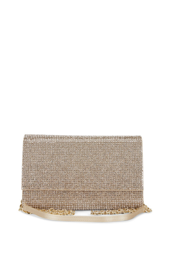 Judith Leiber Couture Fizzy Champagne Crystal Chain Clutch