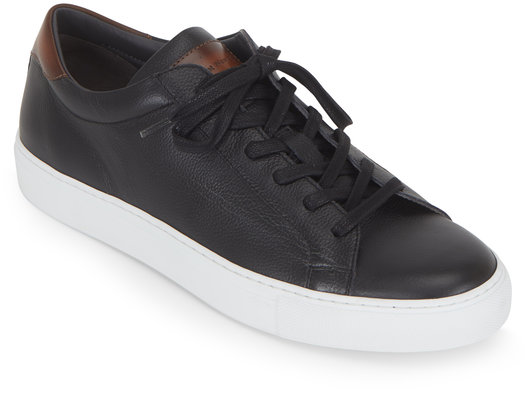 To Boot New York Knox Black Grained Leather Sneaker