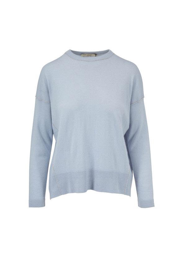 Rani Arabella Light Blue Cashmere High-Low Sweater