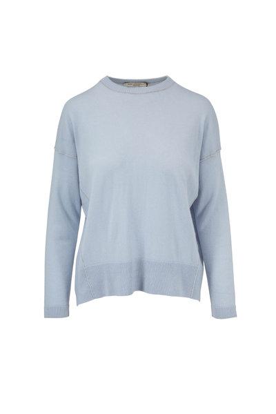 Rani Arabella - Light Blue Cashmere High-Low Sweater