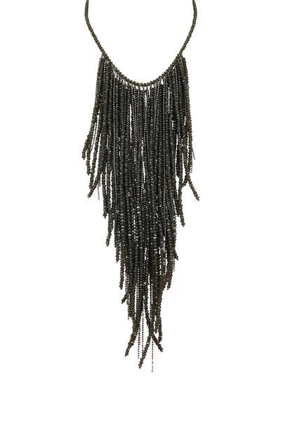 Brunello Cucinelli - Ultra Black Monili Wrap Necklace with Fringe