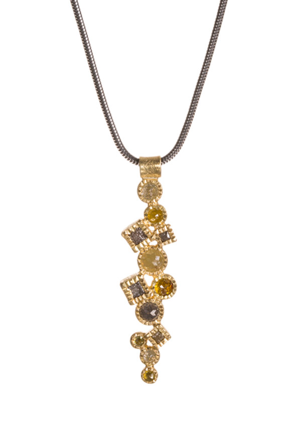 Todd Reed 18K Yellow Gold Raw Diamond Pendant Necklace