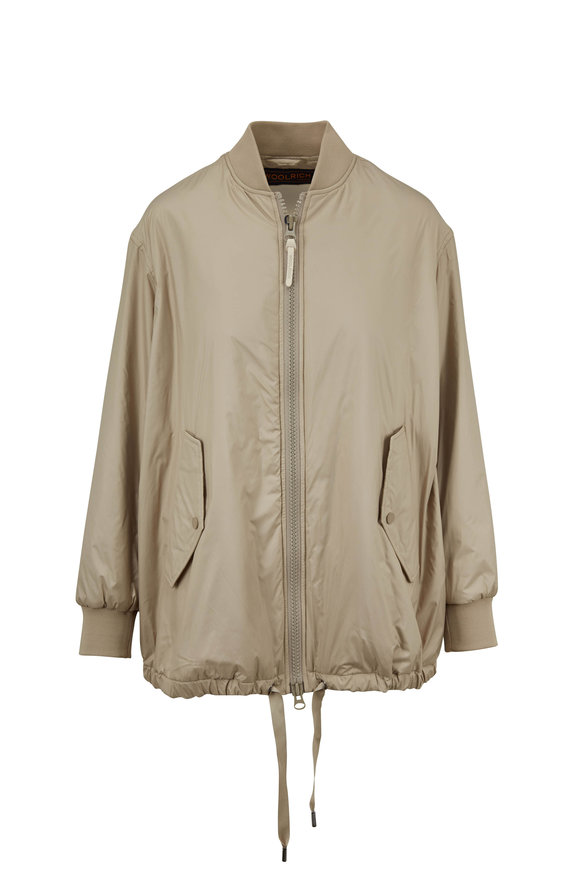 Woolrich Fairview Light Clay Insulated Bomber Jacket