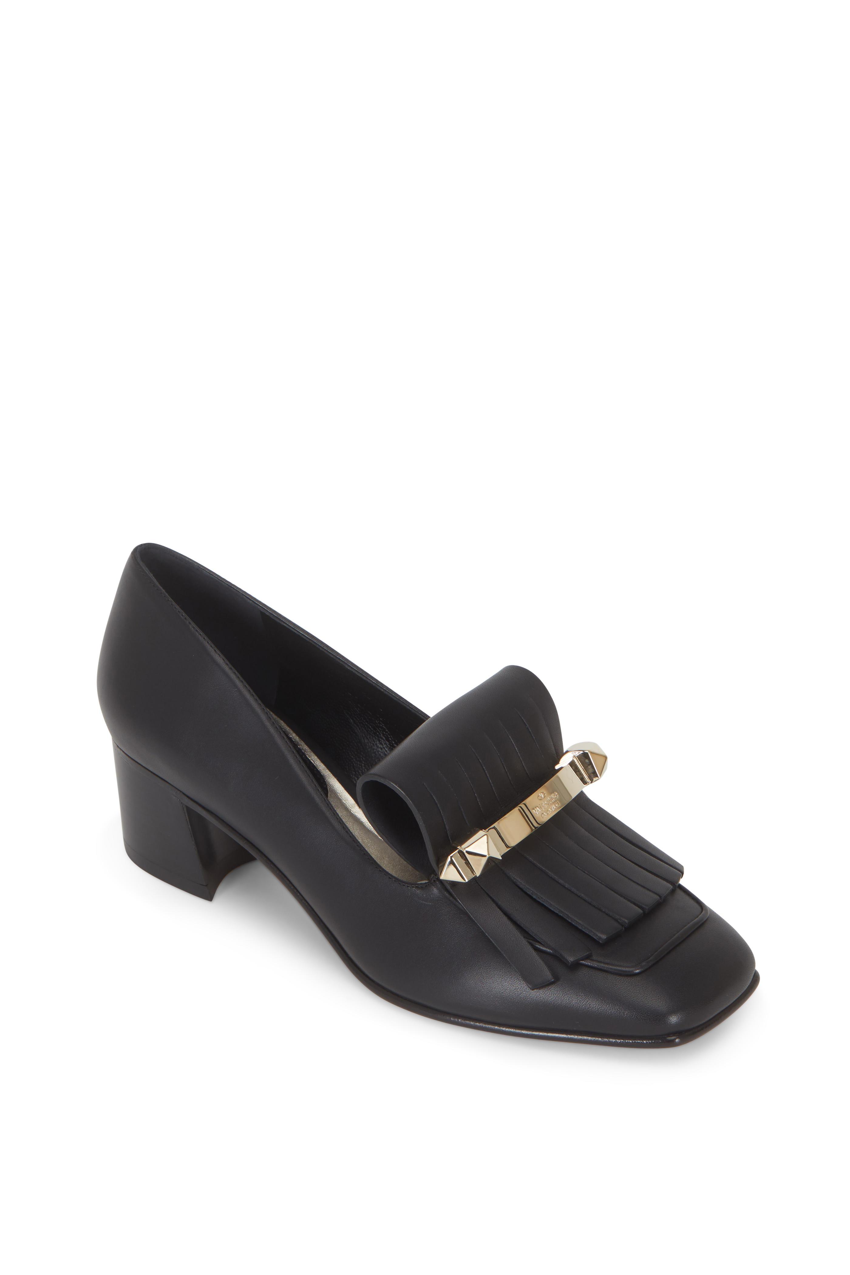 3c63739577233 Valentino Garavani - Uptown Black Leather Kiltie Loafer, 45mm ...