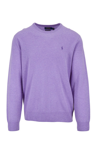 Polo Ralph Lauren - Purple Heather Cashmere Crewneck Pullover