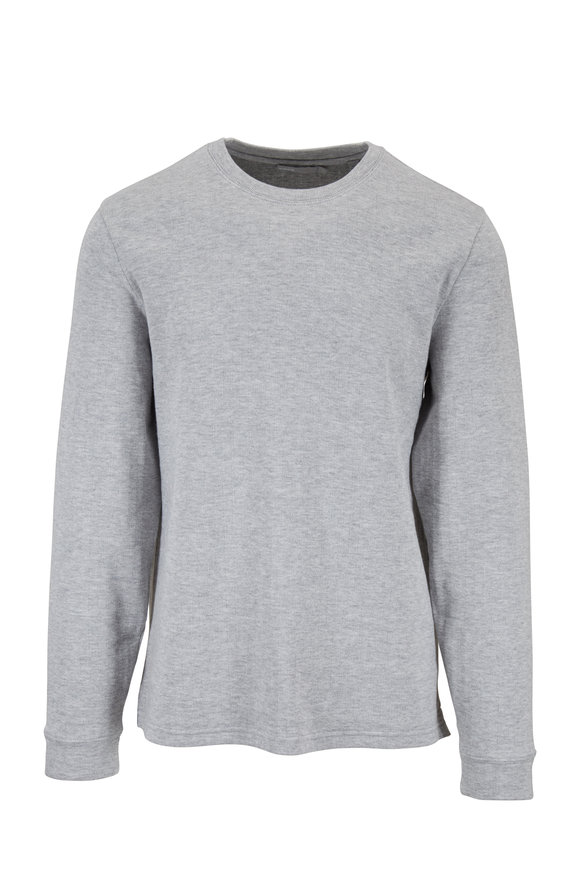 Vince Heather Gray Double Knit Crewneck Pullover