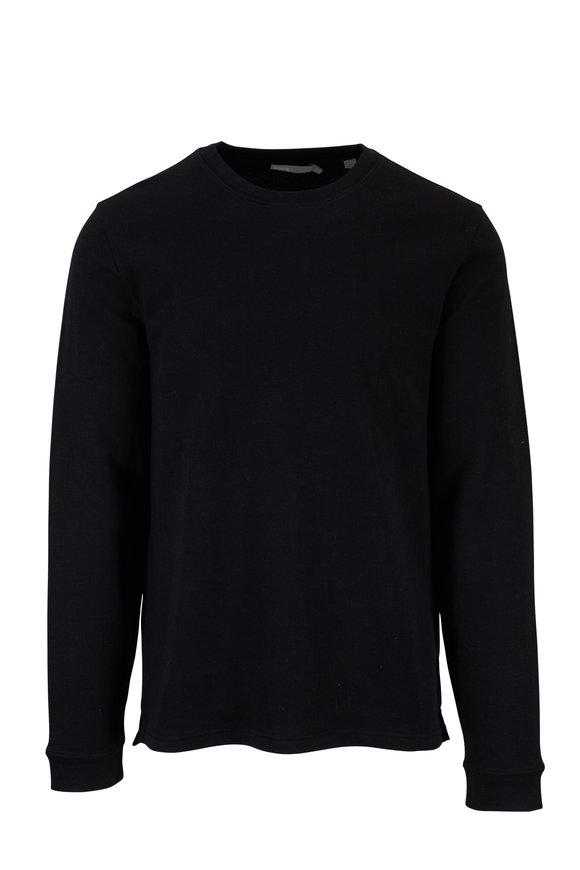 Vince Black Double Knit Crewneck Pullover