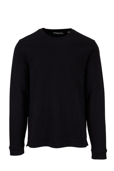 Vince - Black Double Knit Crewneck Pullover