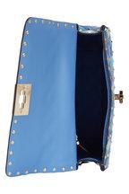 Valentino Garavani - Rockstud Spike Blue Angel Quilted Leather Bag